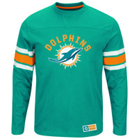 Miami Dolphins 2016 Power Hit Long Sleeve NFL T-Shirt With Felt Applique All items