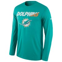 Miami Dolphins NFL Legend Staff Practice Dri-FIT Long Sleeve T-Shirt All items