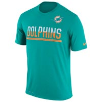 Miami Dolphins NFL Nike Team Practice Light Speed Dri-FIT T-Shirt All items