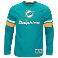 Miami Dolphins Power Hit Long Sleeve NFL T-Shirt With Felt Applique All items
