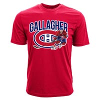 Montreal Canadiens Brendan Gallagher NHL Action Pop Applique T-Shirt All items