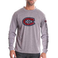 Montreal Canadiens Chrome FX Long Sleeve T-Shirt (Heather Pebble) All items
