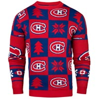 Montreal Canadiens NHL Patches Ugly Crewneck Sweater All items