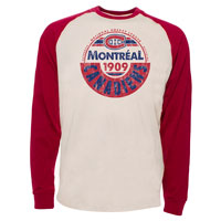 Montreal Canadiens Spheric Raglan Long Sleeve Jersey T-Shirt All items