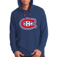 Montreal Canadiens Suede Crest Long Sleeve Hoodie (Navy) All items