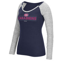 Montreal Canadiens Women's Beveled Shine Long Sleeve T-Shirt All items