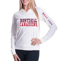 Montreal Canadiens Women's Triple Hit FX Long Sleeve Hoodie (Off White) All items