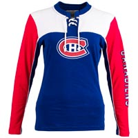 Montreal Canadiens Women's Visp Long Sleeve Lace Up Crew All items