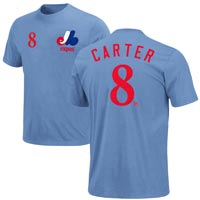 Montreal Expos Gary Carter Cooperstown Player Name & Number T-Shirt (Blue) All items