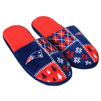 New England Patriots Men's Ugly Sweater Knit Slippers All items