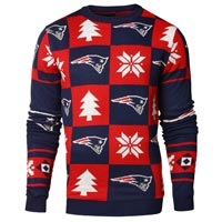 New England Patriots NFL Patches Ugly Crewneck Sweater All items
