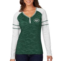New York Jets Women's Lead Play Raglan Long Sleeve T-Shirt All items