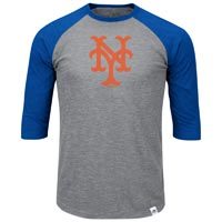 New York Mets Cooperstown Two To One Margin 3/4 Raglan T-Shirt All items