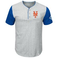 New York Mets Pinstripe Henley T-Shirt All items