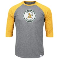 Oakland Athletics Cooperstown Two To One Margin 3/4 Raglan T-Shirt All items