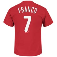 Philadelphia Phillies Maikel Franco MLB Player Name & Number T-Shirt (Red) All items