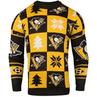 Pittsburgh Penguins NHL Patches Ugly Crewneck Sweater All items
