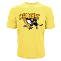 Pittsburgh Penguins Sidney Crosby NHL Playoff NEON Action Pop Applique T-Shirt All items