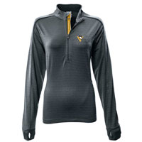 Pittsburgh Penguins Women's Pacer Team Script 1/4 Zip  Pullover All items