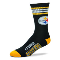Pittsburgh Steelers 4 Stripe Deuce Crew Socks All items