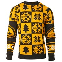 Pittsburgh Steelers NFL Patches Ugly Crewneck Sweater All items