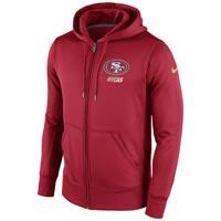 San Francisco 49ers NFL Sideline KO Performance Full Zip Hoodie Hoodies