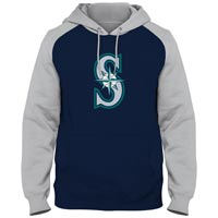 Seattle Mariners Twill Logo Raglan Express Hoody Hoodies