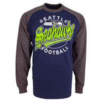 Seattle Seahawks Rounder Raglan Long Sleeve Jersey T-Shirt All items