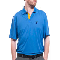 St. Louis Blues Shadow Text Evolve Polo All items