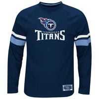 Tennessee Titans Power Hit Long Sleeve NFL T-Shirt With Felt Applique All items