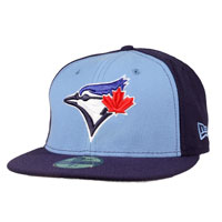 Toronto Blue Jays Authentic Fitted MLB Baseball Cap (Sky Blue-Navy) All items
