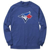 Toronto Blue Jays Distressed Logo French Terry Crew (Heather Royal) All items
