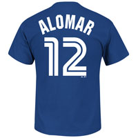 Toronto Blue Jays Roberto Alomar Cooperstown Player Name & Number T-Shirt All items