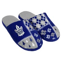 Toronto Maple Leafs Men's Ugly Sweater Knit Slippers All items