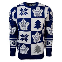Toronto Maple Leafs NHL Patches Ugly Crewneck Sweater All items