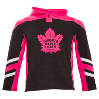 Toronto Maple Leafs Youth Blush Long Sleeve hooded Top All items