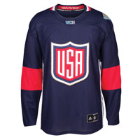 USA Hockey World Cup Of Hockey Premier Replica Blue Jersey All items