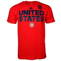 USA Hockey World Cup Of Hockey Team Font Go To T-Shirt (Red) All items