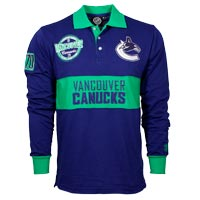 Vancouver Canucks NHL Wordmark Long Sleeve Rugby Polo All items