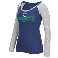 Vancouver Canucks Women's Beveled Shine Long Sleeve T-Shirt All items