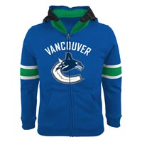 Vancouver Canucks Youth NHL Goalie Mask Full Zip Hoodie All items