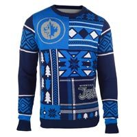 Winnipeg Jets NHL 2015 Patches Ugly Crewneck Sweater All items