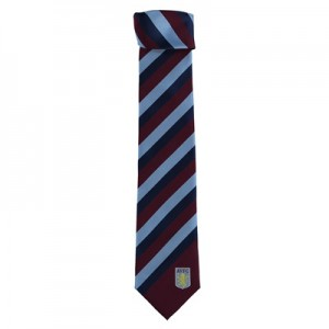 Aston Villa Striped Tie – Polyester – Claret-Sky-Navy All items