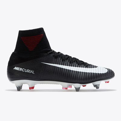 official photos 61578 053a1 Nike Mercurial Superfly V Soft Ground Football Boots - Black/White/Dar
