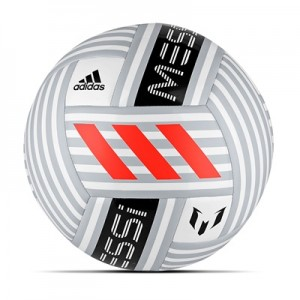 adidas Messi Glider Football – White/Clear Grey/Black/Solar Red – Size All items