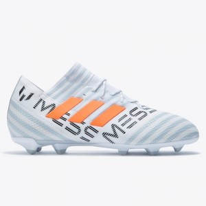 adidas Nemeziz Messi 17.1 Firm Ground Football Boots – White/Solar Ora All items