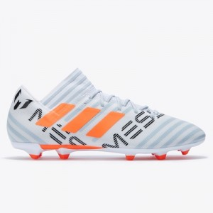 adidas Nemeziz Messi 17.3 Firm Ground Football Boots – White/Solar Ora All items