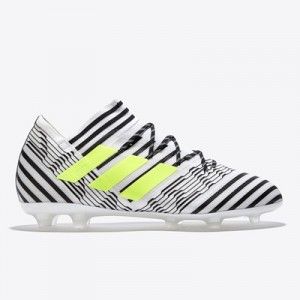 adidas Nemeziz 17.2 Firm Ground Football Boots – White/Solar Yellow/Co All items