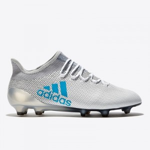 adidas X 17.1 Firm Ground Football Boots – White/Energy Blue/Clear Gre All items