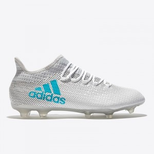 adidas X 17.2 Firm Ground Football Boots – White/Energy Blue/Clear Gre All items